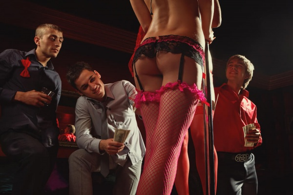 night out in a strip club